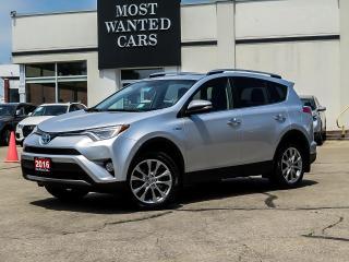 Used 2016 Toyota RAV4 Hybrid LIMITED|HYBRID|NAV|LEATHER|SUNROOF|XENONS|CAMERA for sale in Kitchener, ON