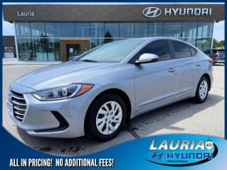 Used 2017 Hyundai Elantra L Manual - ULTRA LOW KMS for sale in Port Hope, ON