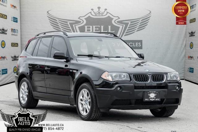 2004 BMW X3 2.5i, AWD, BLUETOOTH, A/C, HEATED SEAT, LEATHER, PWR WINDOWS & LOCKS