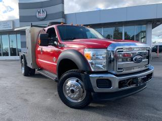 Used 2011 Ford F-450 Chassis DRW 4WD DIESEL 400L TIDY TANK FLAT DECK WELDING for sale in Langley, BC