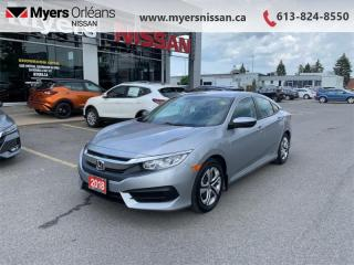 Used 2018 Honda Civic Sedan LX CVT  - Premium Audio - $107 B/W for sale in Orleans, ON