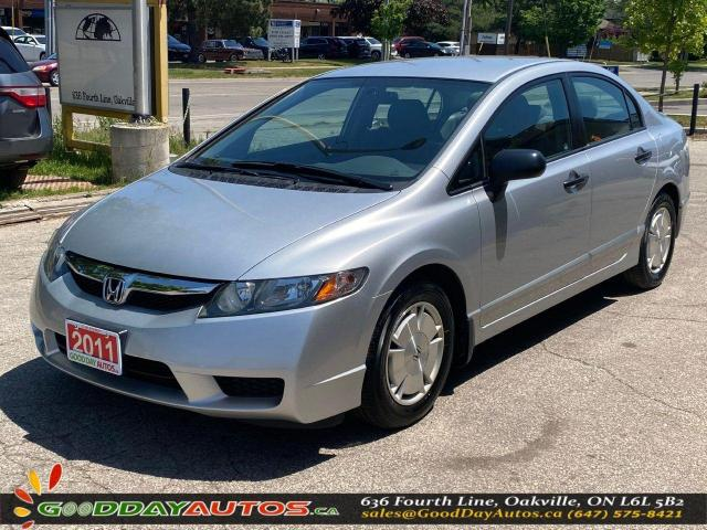 2011 Honda Civic DX-G|ONE OWNER|LOW KM|NO ACCIDENT|CERTIFIED