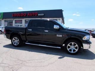 Used 2017 RAM 1500 Laramie Crew Cab 4WD Eco Diesel Navi Camera Certified for sale in Milton, ON