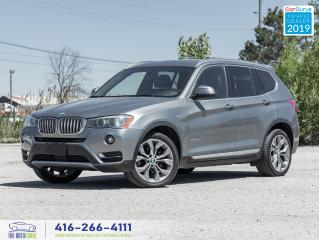 Used 2017 BMW X3 xDrive28i Pano roof Navigation Clean Carfax  for sale in Bolton, ON