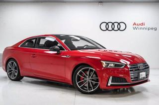 Used 2018 Audi S5 Coupe Technik w/Sport Differential & Dynamic Steering *Local-Low KM* for sale in Winnipeg, MB