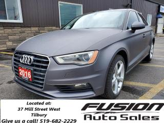 Used 2016 Audi A3 2.0T Komfort-AWD-SUNROOF-HEATED LEATHER-LOCAL TRAD for sale in Tilbury, ON