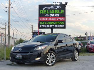 Used 2010 Mazda MAZDA3 GT,NAVIGATION,LEATHER,TOP OF LINE,CERTIFIED,AUTO for sale in Mississauga, ON