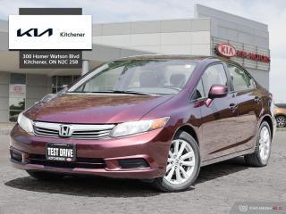 Used 2012 Honda Civic Sedan EX at for sale in Kitchener, ON