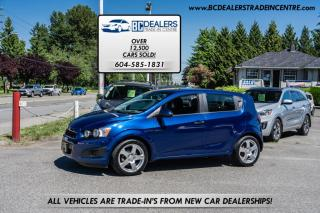 Used 2013 Chevrolet Sonic 5-Door Hatch LT Auto, Bluetooth, Low Km, Alloys, Clean for sale in Surrey, BC