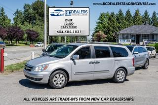 Used 2007 Hyundai Entourage Low Km's, Leather, Power Doors, Alloys, Loaded + Clean! for sale in Surrey, BC