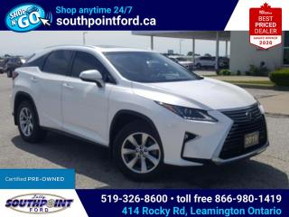 Used 2019 Lexus RX 350 RX 350 AWD HTD & COOLED SEATS SUNROOF HTD STEERING LANE KEEPING ADAPTIVE CRUISE for sale in Leamington, ON