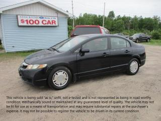 Used 2009 Honda Civic DX-G for sale in North Bay, ON
