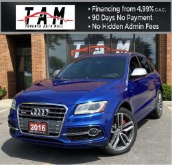 Used 2016 Audi SQ5 Technik NAVI Back-Up Blind Spot Parking Assist Clean Carfax for sale in North York, ON