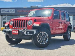 Used 2020 Jeep Wrangler Unlimited COMPANY CAR | 8.4 SCREEN | 2 TOPS for sale in Listowel, ON