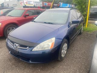Used 2003 Honda Accord LX-G AS-IS for sale in Mississauga, ON