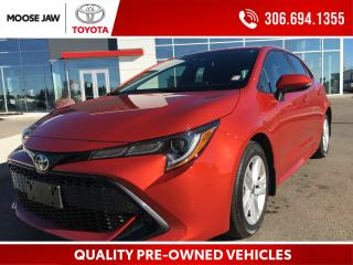 Used 2020 Toyota Corolla Hatchback HEATED SEATS, ANDRIOD AUTO, APPLECAR PLAY, BLINDSPOT MONITORING, ANTI-THEFT, BACK UP CAMERA for sale in Moose Jaw, SK
