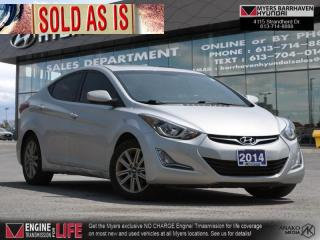 Used 2014 Hyundai Elantra GL  - Sunroof -  Heated Seats for sale in Nepean, ON
