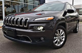 Used 2017 Jeep Cherokee LIMITED LUXURY -TECH PACKAGE - LOW LOW MILEAGE! for sale in Burlington, ON