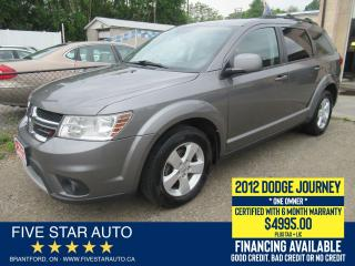 Used 2012 Dodge Journey SXT *One Owner* Certified w/ 6 Month Warranty for sale in Brantford, ON
