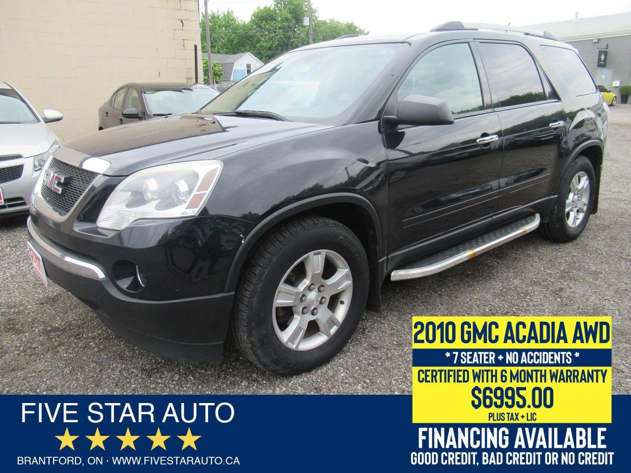 2010 GMC Acadia SLE AWD *No Accidents* Certified + 6 Mnth Warranty