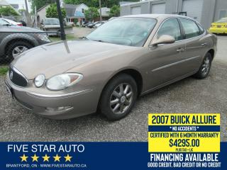 Used 2007 Buick Allure CXL *No Accidents* Certified + 6 Month Warranty for sale in Brantford, ON