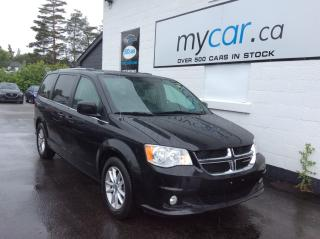 Used 2019 Dodge Grand Caravan SXT Plus LEATHER, PWR DOORS, HEATED SEATS, NAV, BACKUP CAM! for sale in Richmond, ON