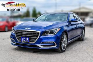 Used 2018 Genesis G80 5.0 Ultimate RARE 5.0 ULTIMATE! | 1 OWNER! | ACCIDENT FREE! | ONTARIO VEHICLE! | SERVICE HISTORY! for sale in Bolton, ON