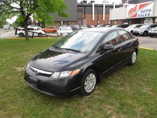 Used 2007 Honda Civic DX-G ~ MANUAL ~ SAFETY INCLUDED for sale in Toronto, ON