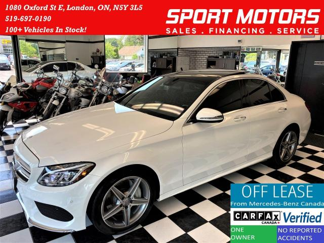 2017 Mercedes-Benz C-Class C300 4Matic AMG PKG+Xenons+Camera+Roof+CLEANCARFAX