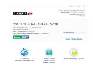 Used 2016 Hyundai Santa Fe SPORT for sale in Saint-Jean-sur-Richelieu, QC