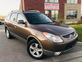 Used 2010 Hyundai Veracruz GLS - POWER HEATED LEATHER SEATS, B.T., 7 SEATS for sale in Rexdale, ON
