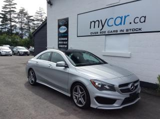 Used 2015 Mercedes-Benz CLA-Class LEATHER, PANOROOF, HEATED SEATS, WOW!! LOADED AWD! for sale in Richmond, ON
