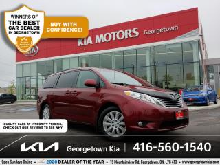 Used 2014 Toyota Sienna XLE | 7-PASS | LEATHER | SUNROOF| PWR DOORS & GATE for sale in Georgetown, ON