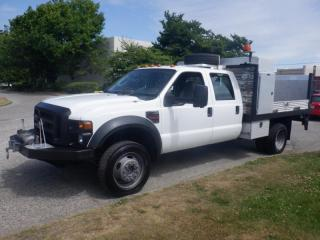 Used 2008 Ford F-450 SD Flat Deck 8 foot Crew Cab 4WD Dually Diesel With Power Talgate for sale in Burnaby, BC