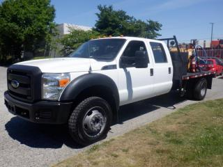 Used 2014 Ford F-450 SD 11 Foot Flat Deck Crew Cab Dually 4WD for sale in Burnaby, BC