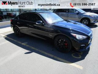 Used 2017 Infiniti Q50 3.0t Red Sport 400  - Navigation for sale in Ottawa, ON