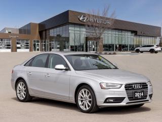 Used 2014 Audi A4 Progressiv | Heated Seats | Navigation | Sunroof | for sale in Winnipeg, MB