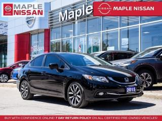 Used 2015 Honda Civic Touring Blind Spot Navi Backup Camera Bluetooth for sale in Maple, ON
