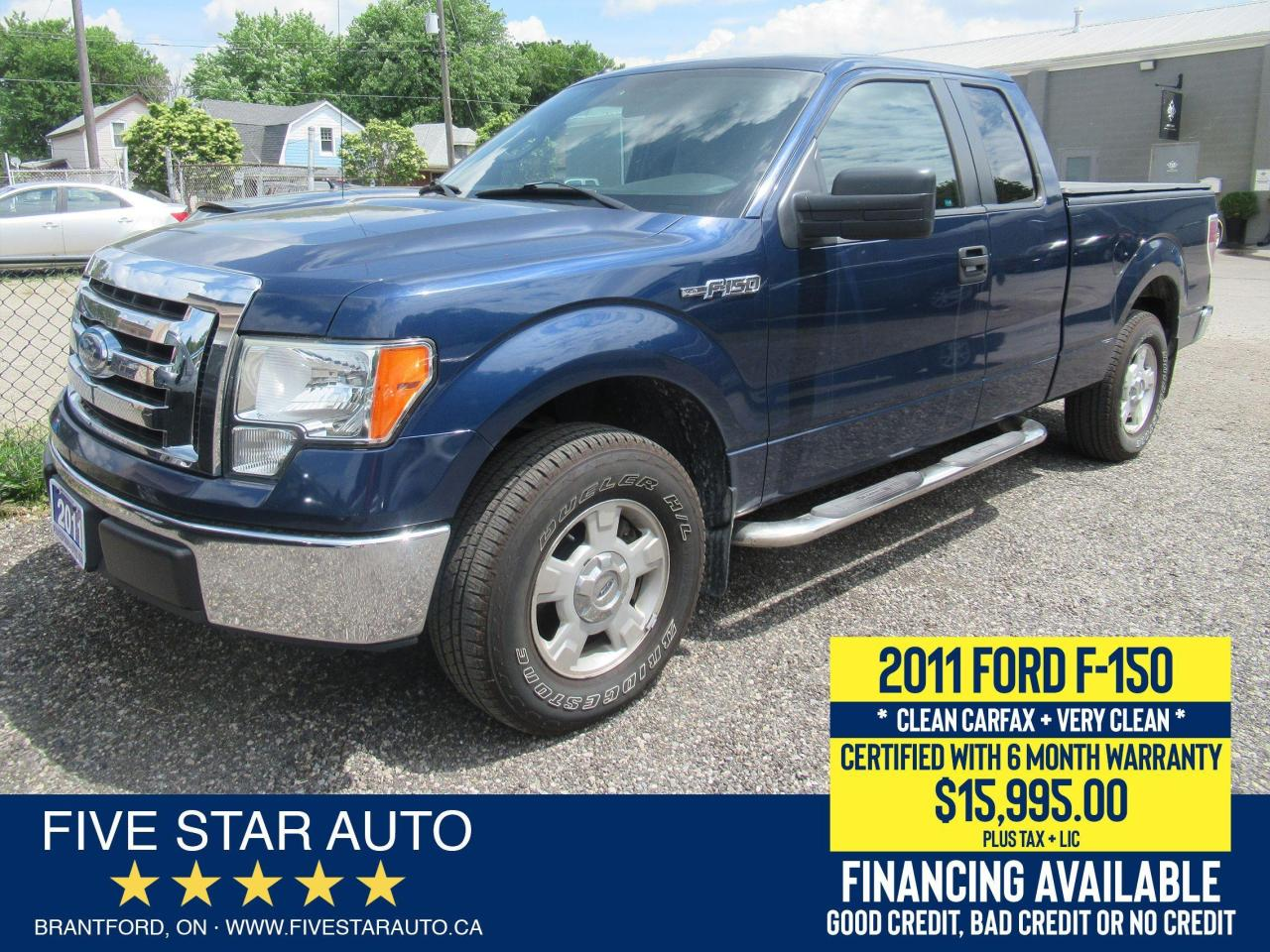 2011 Ford F-150 XLT SUPERCAB. No Accidents. Certified + Warranty
