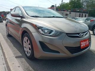 Used 2015 Hyundai Elantra GL-EXTRA CLEAN-ECO-165K-BLUETOOTH-AUX-USB-MUST SEE for sale in Scarborough, ON