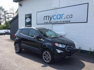 Used 2020 Ford EcoSport Titanium LEATHER, SUNROOF, HEATED SEATS, TOUCH SCREEN!! for sale in North Bay, ON