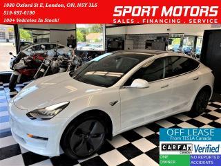 Used 2020 Tesla Model 3 STANDARD RANGE PLUS+LIKE NEW+CLEAN CARFAX for sale in London, ON