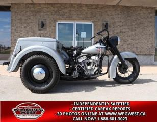 Used 1960 Harley-Davidson Servi-Car MUSEUM/COLLECTOR QUALITY, FULL RESTORATION, MINT for sale in Headingley, MB