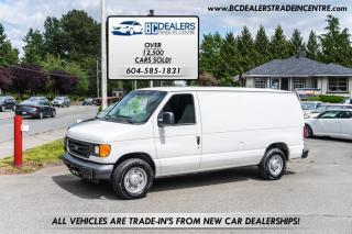 Used 2005 Ford Econoline Cargo Van E-150 Econoline Cargo Van, V8, 189k, Local, AC, Clean! for sale in Surrey, BC