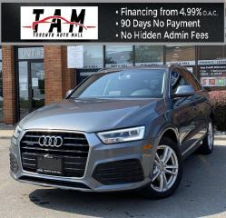 Used 2016 Audi Q3 Technik S-Line Technik NAVI Pano Sunroof Back-Up Cam One Owner Clean Carfax for sale in North York, ON