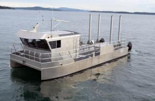 Used 2019 JR Marine 42 Foot Custom Aluminum Pontoon Work Boat for sale in Burnaby, BC