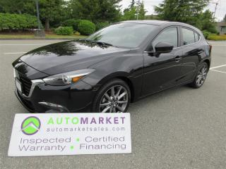 Used 2018 Mazda MAZDA3 AUTO, GT, LOADED, LEATHER, MOONROOF, HEADS UP, WARRANTY, FINANCING for sale in Surrey, BC