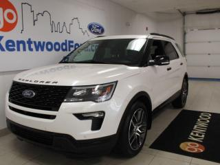 Used 2019 Ford Explorer Sport | 4WD | Moonroof | Heated/Cooled Seats | One Owner No Accidents for sale in Edmonton, AB