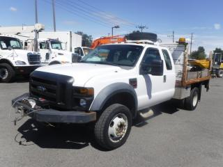 Used 2008 Ford F-450 SD Flat Deck 10 foot  4WD With Power Tailgate and Crane Dually Diesel for sale in Burnaby, BC