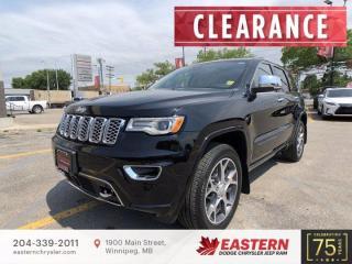 New 2021 Jeep Grand Cherokee Overland   0% Finacing   for sale in Winnipeg, MB